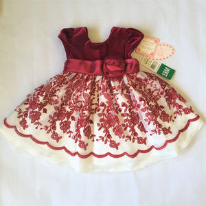 NWT Jona Michelle Girl Holiday Dress 18M Red White